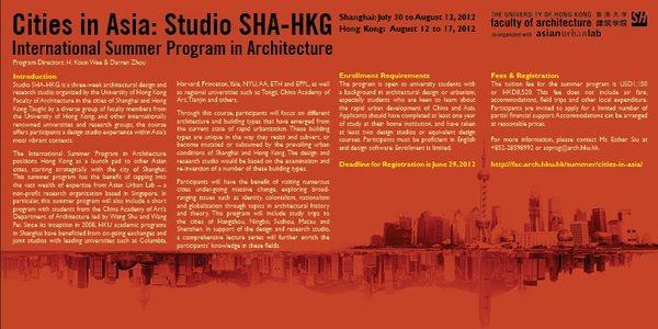 Cities in Asia: Studio SHA-HKG – International Summer Program in Architecture