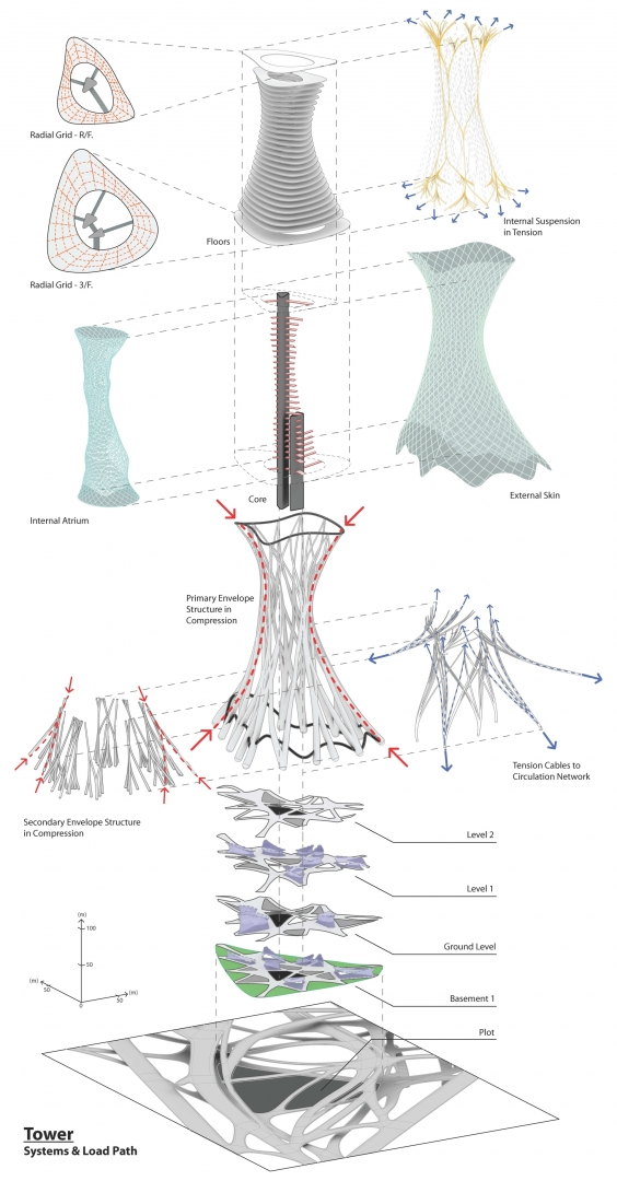 Enlarge Photo: Tower Exploded Axon