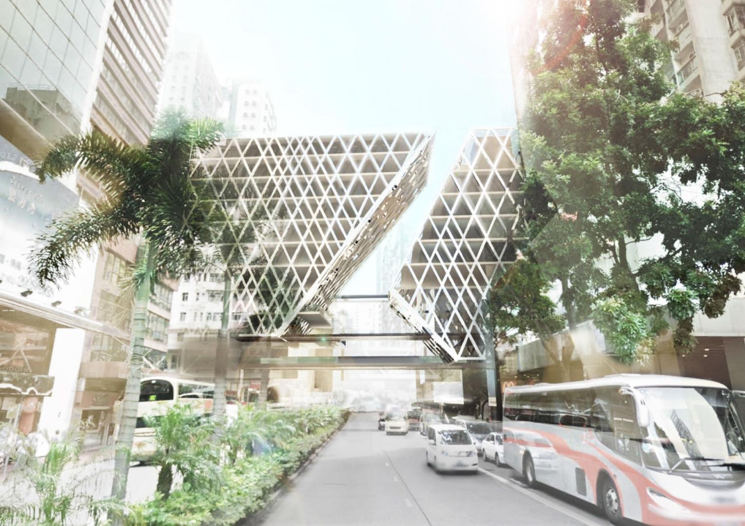 urban architecture parasite arch spine fabric dense hku iii